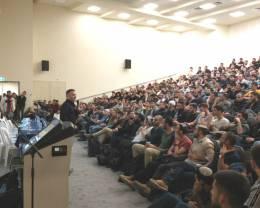 CivilEng באוניברסיטת אריאל: מאות סטודנטים באו לשמוע על עבודה בענף הבנייה