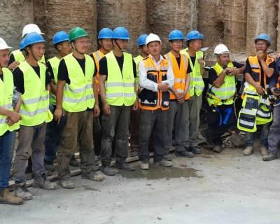 אתרי הבנייה הודממו לטובת קידום המודעות לבטיחות