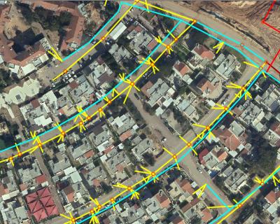 עדכון נתוני תשתיות במערכת GIS, לניהול תשתיות עירוניות